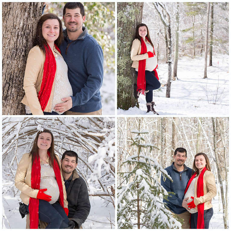 CT Snowy woods Maternity Photograph