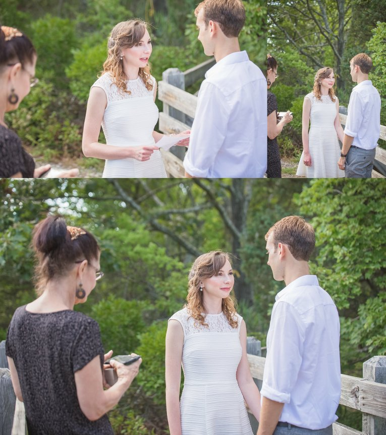 bride and groom elopement at rocky neck state park